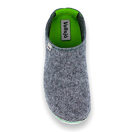 Vollsjo in Low House Grey Slippers Vegan Women's EU green Felt Handmade Er8wrqYC