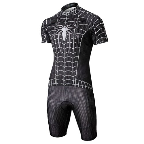Baleaf Short Sleeve Cycling Jersey Spider Men's Style Black XXL