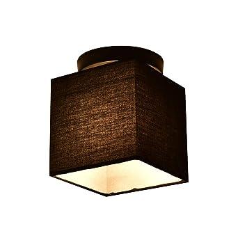 Moderno cubo negro paño cortina metal lámpara de techo ...