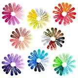 120 Pack Girls Hair Clips, 40 Assorted Candy Colors Hair Clips Barrettes 2 Inch Metal Snap No Slip Barrettes for Kids Teens Women