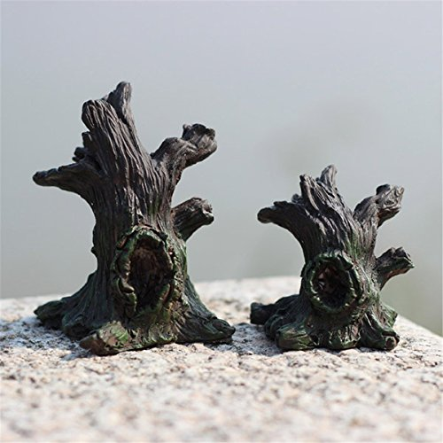 Resin Withered Stumps Micro Landscape Decorations Garden DIY D?cor,Size Small