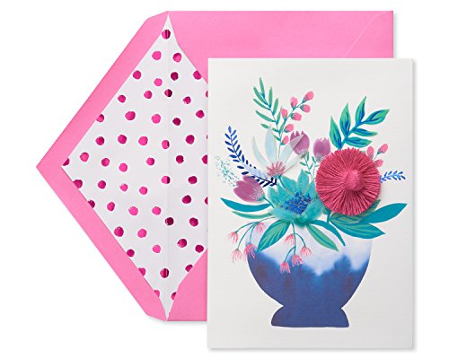 American Greetings Premier So Grateful Floral Mother's Day Greeting Card with Glitter