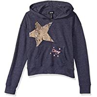 DKNY Girls' Hoodie with Sequin Star,
