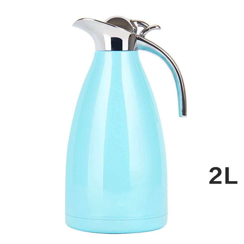 WLHW Trinkflaschen Isolationstopf, Home Wasserkocher Wärmflasche 304 Edelstahl Liner Große Kapazität Tragbare 2L