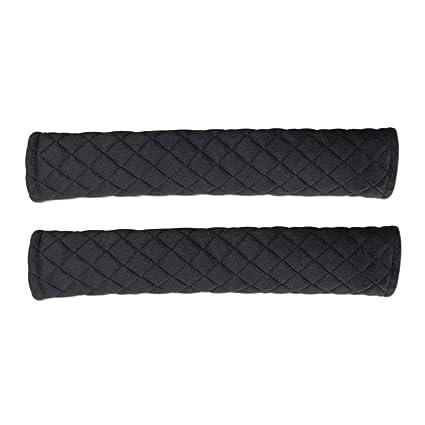 2-Pack suave cubierta de la almohadilla del cinturón de seguridad del coche, correa