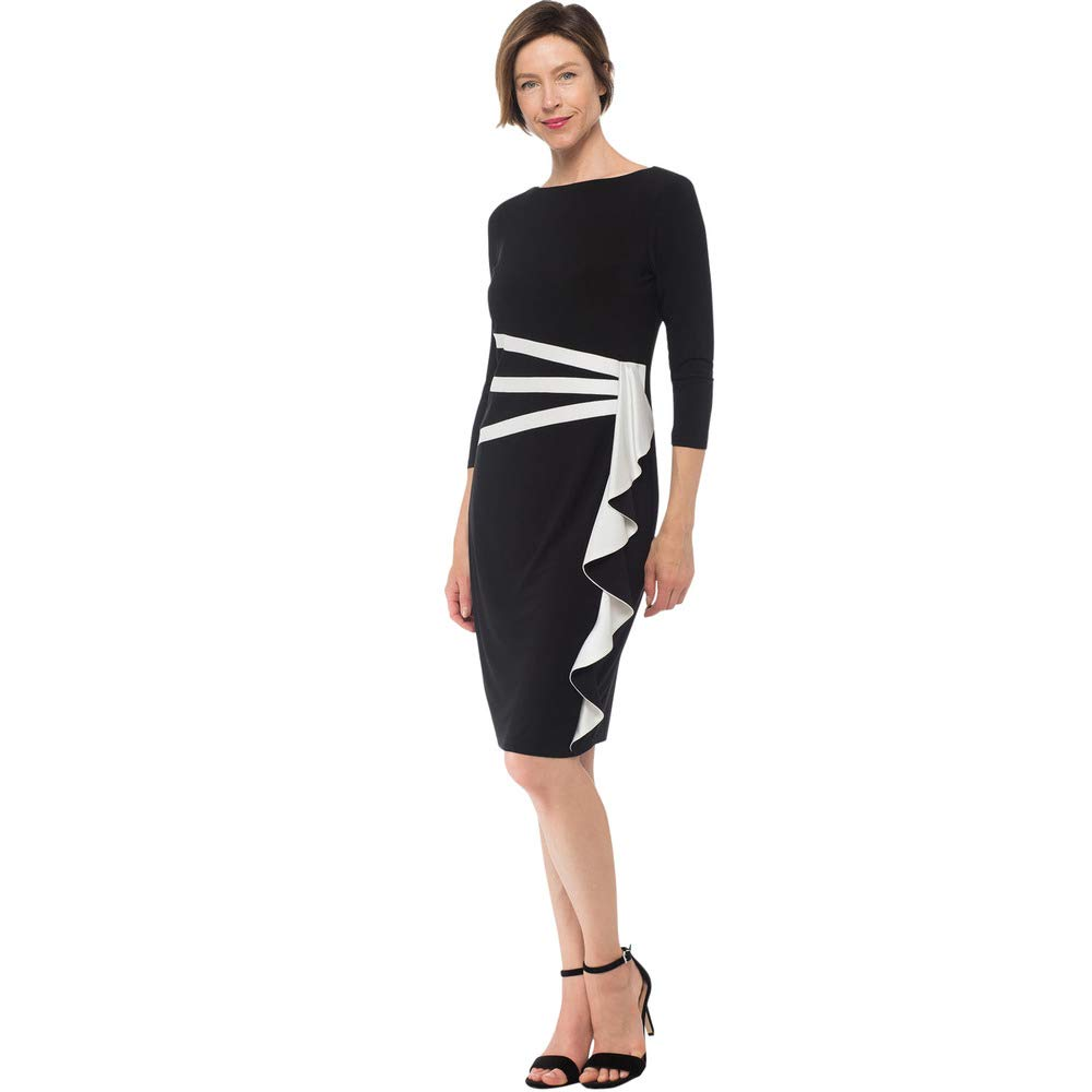 Black OffWhite Joseph Ribkoff Dress Style 184471