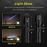 Flashlights [2 Pack], LED Tactical Flashlight S1000