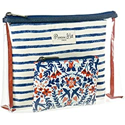 Primrose Hill Nautical Birds Collection Cosmetic 3 Piece Travel Set