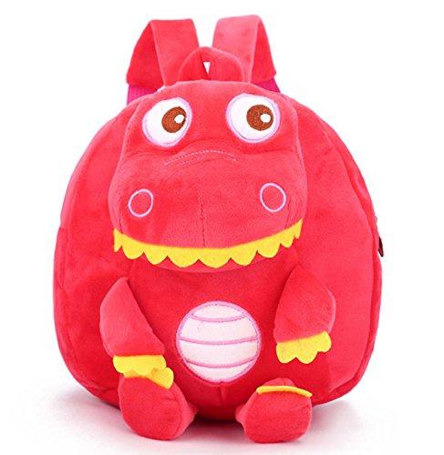 Spalle Per Dinosauro Borsa Bambini Da Viaggio Rosso Stile Zaino qwIIEa6B