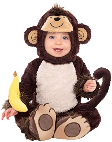 Amscan 843614 Baby Monkey Costume, Brown, 6-12 Months ()