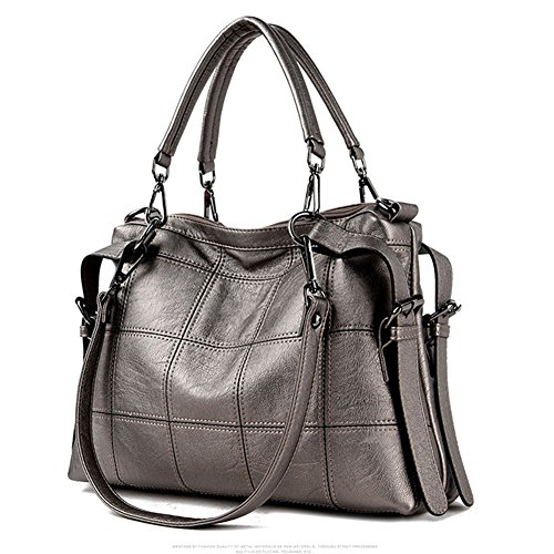 Women��s Purse Handbag Hobo Bag Shoulder Designer Top Handbag Leather Tote Champagne 3 Voudi Satchel Style Bag Handle Genuine Way OTwt4Z