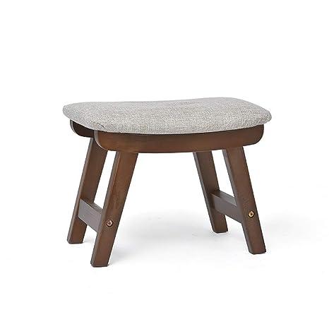Amazon.com: Taburete de madera maciza para mesa de café ...