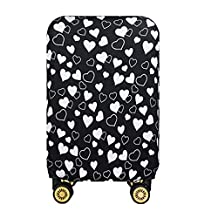 JBJANY Washable Travel Luggage Cover Spandex Heart Suitcase Protector Baggage Fits 20 24 28 Inch Luggage(Only Cover)