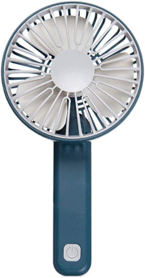 HLDLO Mini Handheld Fan Folding Portable Mute Multi Speed Wind Speed Table Fan USB Charging Small Fan Bathroom Bedroom Kitchen Living Room Fan Color : Cyan