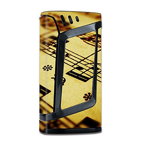 Skin Vinyl Decal for Smok Alien 220W TC Vape Mod / with Grip-Guard Technology stickers skins cover / Sheet Music (Tc 220 Sheet)