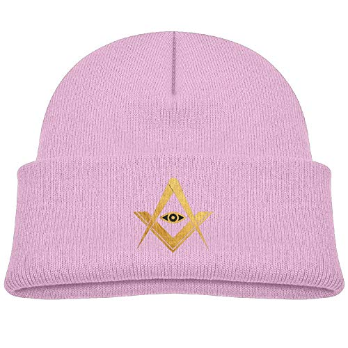 Qiop nee Beanie Hats Knit Cap Wool Gold Freemasons Symbol Baby Soft Boys' ()
