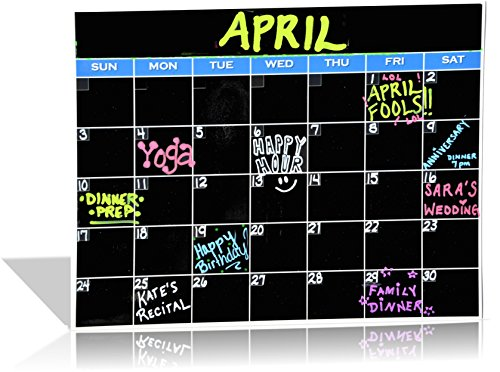 Black Monthly Magnetic Calendar, Dry Erase Calendar, Monthly Planner Fridge Calendar board by House to Home (Black Magnetic Fridge Organizer compare prices)