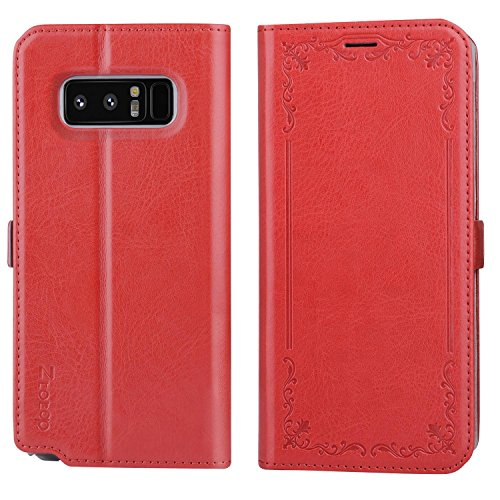 Galaxy note 8 case, Ztotop Luxury Flip Full Body Leather Shockproof Case Cash Holder Protective Cover for Samsung Galaxy Note 8 (6.3