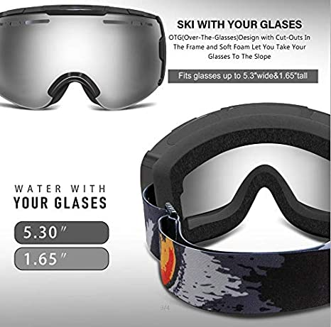 Light Weight ECOCITUSS Safety Goggles Splash Resistant Lens Breathable Valves Anti-Fog Over-Glasses with Soft Piece