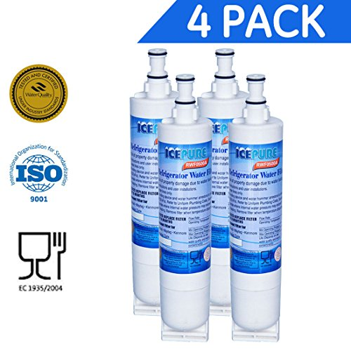 4 Pack - Water Filter by IcePure to Replace Whirlpool, KitchenAid, Sears, Thermador