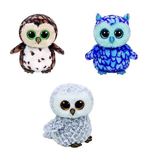 6  Ty Set Of 3 Owls Beanie Boos   Oscar  Sammy  Owlette