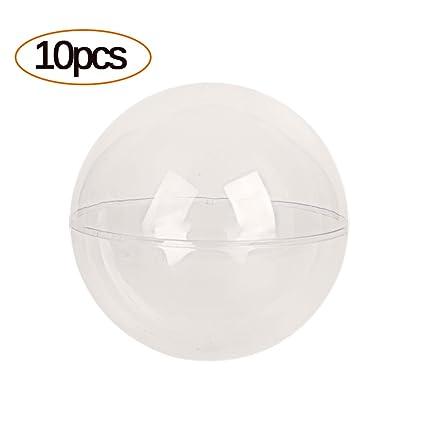 Dee Plus Bolas de Forma Redonda Plástico Transparente para Caja ...