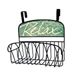 Stupell Home Décor Relax Over The Door Organizer Basket, 11 x 11 x 6, Proudly Made in USA