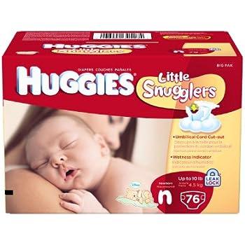 Huggies Little Snugglers Diapers for Newborn, Big Pack, 76 Count
