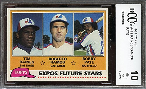 1981-topps-479-tim-raines-ramos-bobby-pate-montreal-expos-rookie-bgs-bccg-10-graded-card