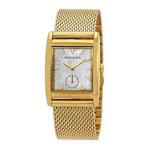 Movado Heritage White Mother of Pearl Dial Ladies Watch 3650040