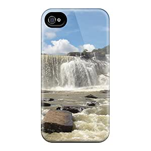 New Premium Flip Case Cover Raging Waterfall Skin Case For Iphone 4/4s