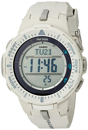 Casio Men s ProTrek Triple Sensor Quartz Resin Watch, Color White Model PRG-300-8CR
