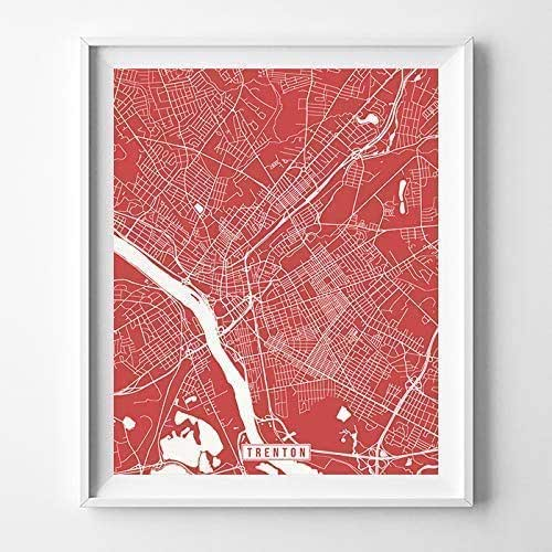 Amazon.com: Trenton New Jersey Map Print Street Poster