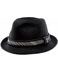Men's Pinch Front Black Fedora Hat