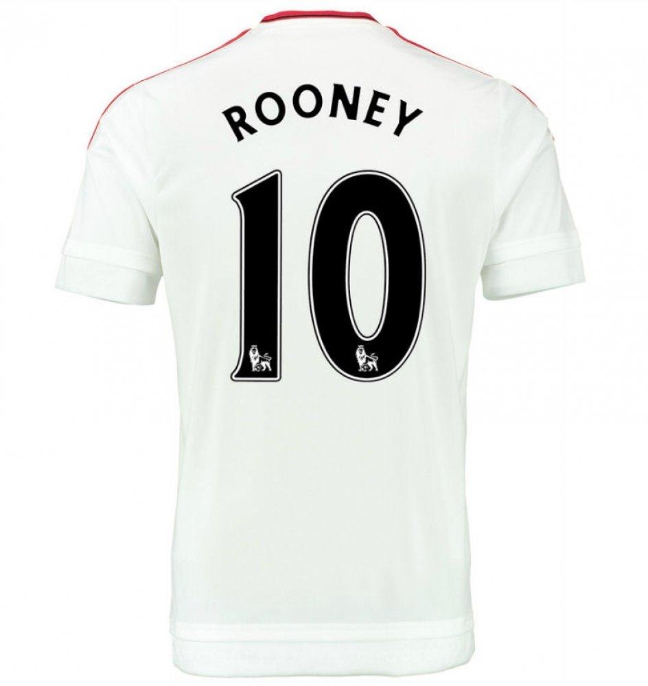 2015-2016 Man Utd Away Football Soccer T-Shirt Trikot (Wayne Rooney 10) - Kids