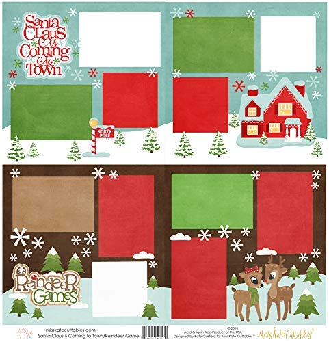 (Two Printed Layouts - Santa Claus is Coming to Town & Reindeer Games - 2-2 Page 12