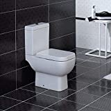 RAK Series 600 White Close Coupled WC Modern Toilet with Soft Close Seat