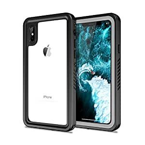 Oumart iPhone X DustProof Case, Waterproof IP68 Certified and Full Body Sockproof Skin Protecto Cover