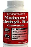 BestVitality Natural Vitamin B12 Chewable methylcobalamin(1000mcg) Made in USA-Free Guide (1) Review