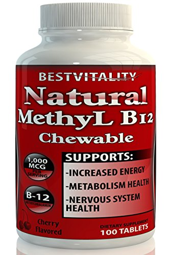 BestVitality Natural Vitamin B12 Chewable methylcobalamin(1000mcg) Made in USA-Free Guide (1)