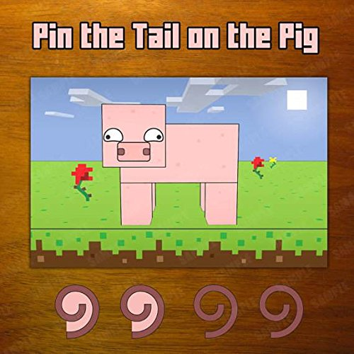 SGG Party Supplies for Your Favorite Pixel Video Games (Pin the Tail on the Pig Game) by SGG