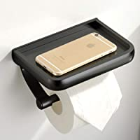 UOCO Toilet Paper Holder with Shelf, Anti-Rust Aluminum Toilet Roll Holder with Phone Shelf for All Mobile Phone, Wall…