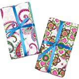 Fabric Editions 100-Percent Cotton Fabric Bundle Assortment, 21-Inch by 1/4-yard Cuts, Punch of Paisley