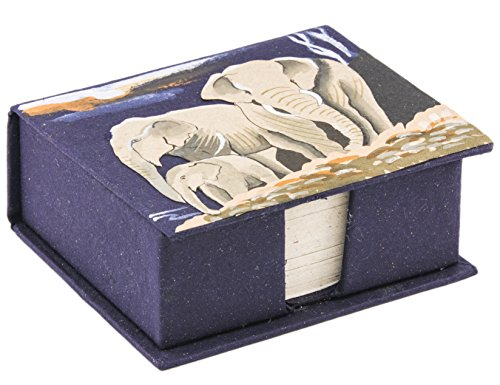 - Mr. Ellie Pooh Hand Painted Poo Paper Elephant Note Box with Recycled Note Paper