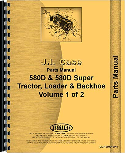 Case 580D Super Tractor Loader Backhoe Parts - Parts Backhoe Loader Catalog