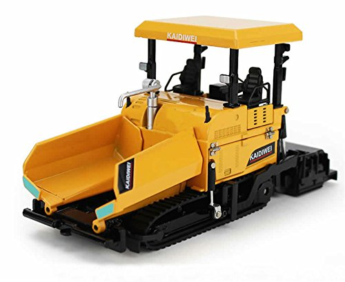 Lcyyo@ KAIDIWEI 1:40 Alloy Paver Car Model Asphalt Paver Diecast Machine Engineering Vehicles Truck Toy Model Gift, Collection, Kids Toy (Yellow)
