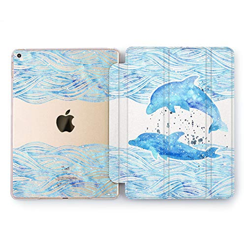 Wonder Wild Dolphins Couple Apple iPad Pro Case 9.7 11 inch Mini 1 2 3 4 Air 2 10.5 12.9 2018 2017 Design 5th 6th Gen Clear Smart Hard Cover Animals Nature Underwater Sea Inhabitants Fish Together ()