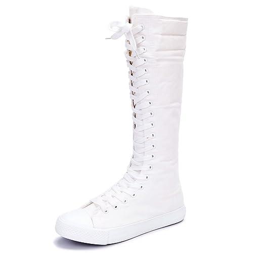 Calzature & Accessori punk bianchi con allacciatura elasticizzata per donna Comprar Falso Barato k1sozVA