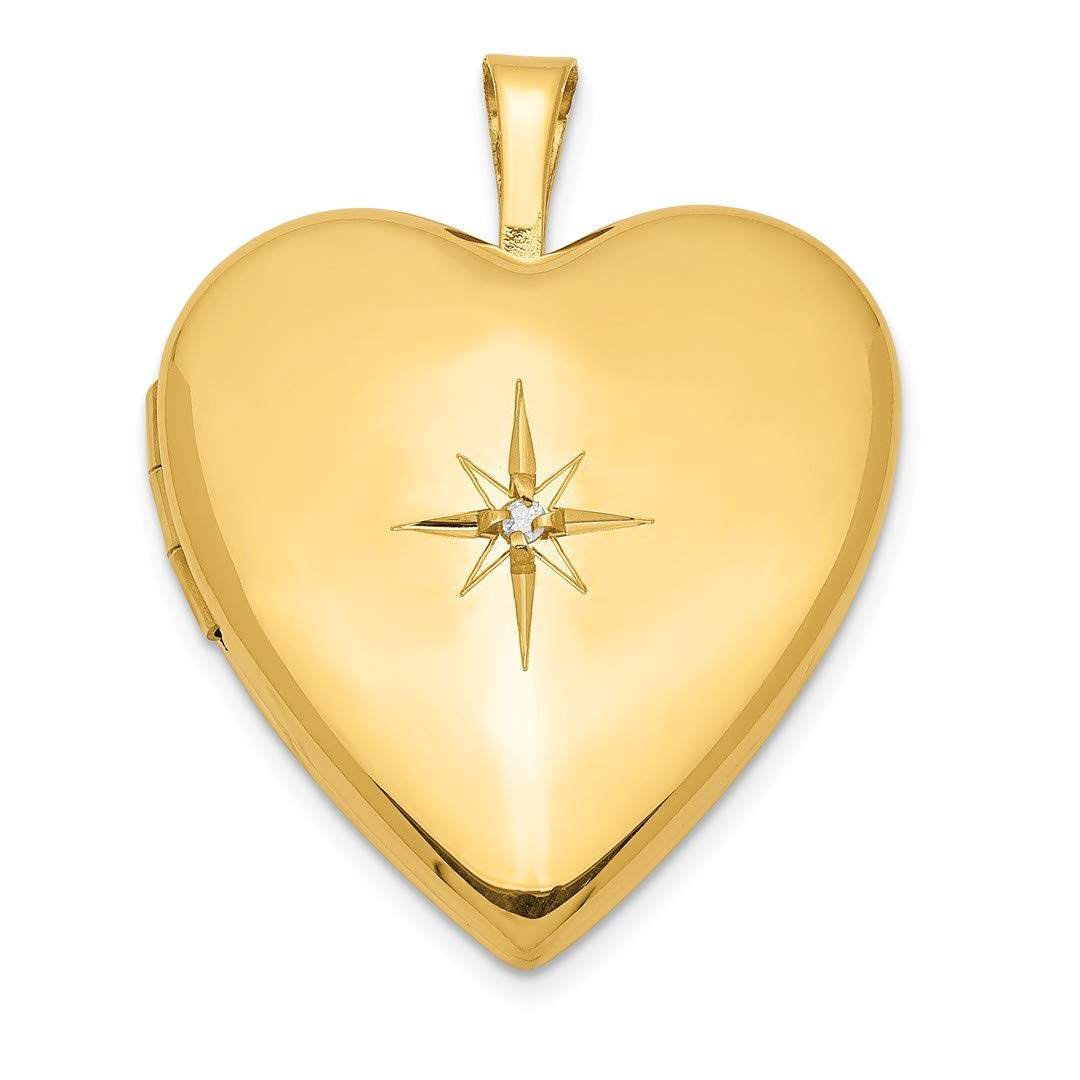 ICE CARATS Gold Plated 925 Sterling Silver Diamond 20mm Heart Photo Pendant Charm Locket Chain Necklace That Holds Pictures Fine Jewelry Ideal Gifts For Women Gift Set From Heart