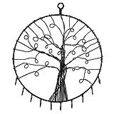 Wall Hanging Round Metal Tree Silhouette Design